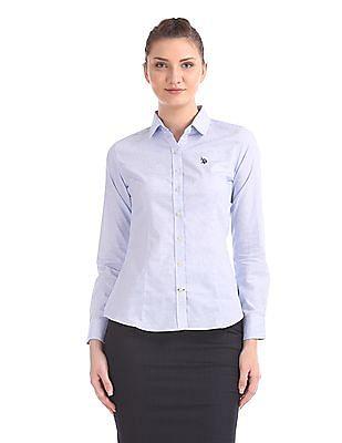 U.S. Polo Assn. Women Tailored Regular Fit Check Shirt