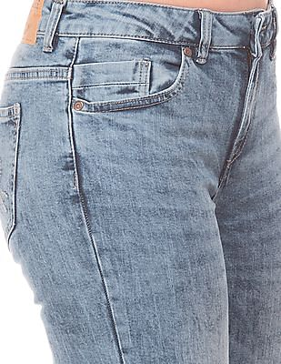 Cherokee Acid Wash Slim Boot Cut Jeans