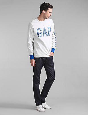 GAP Contrast Logo Popover Sweatshirt