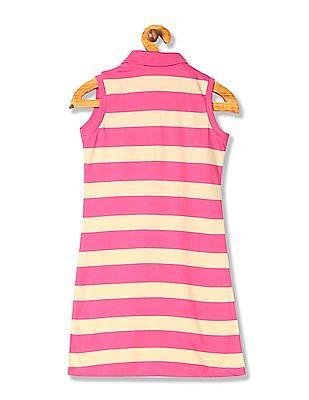U.S. Polo Assn. Kids Girls Standard Fit Polo Shirt Dress