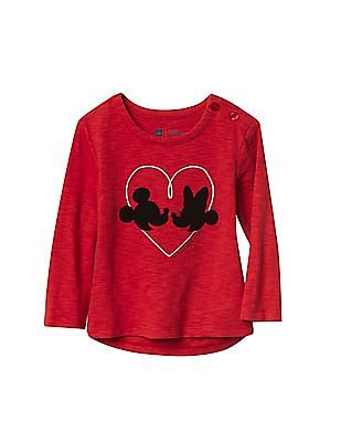 GAP Baby Red Disney Mickey And Minnie Mouse Graphic Tee