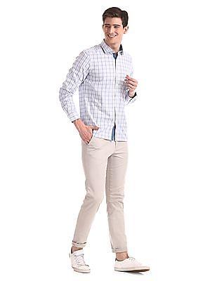 Excalibur Blue Regular Fit Check Shirt