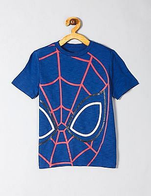 GAP Blue Boys Marvel© Graphic Short Sleeve T-Shirt