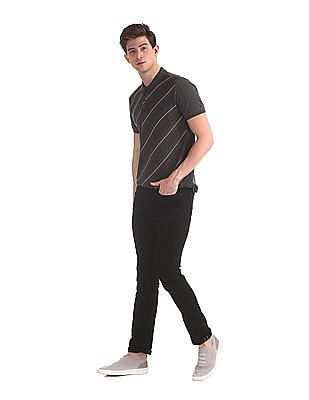 Arrow Sports Black Slim Fit Dark Wash Jeans