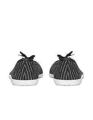 SUGR Striped Fabric Ballerinas