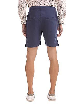Bayisland Drawstring Waist Knit Shorts