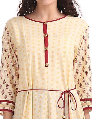 Anahi Printed Anarkali Kurta