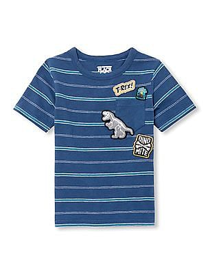 The Children's Place Toddler Boy Patch Pocket Striped Tee