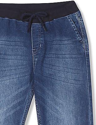 Cherokee Boys Slim Fit Stone Wash Jogger Jeans