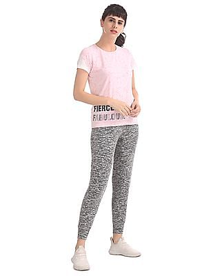 SUGR Pink Mesh Sleeve Active Top