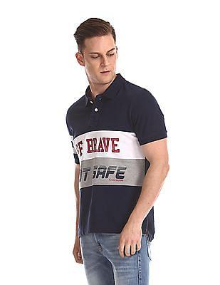 Flying Machine Short Sleeve Printed Polo Shirt