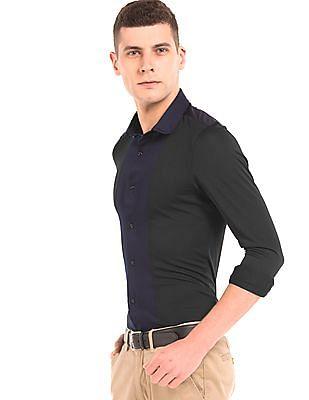 Arrow Newyork Colour Block Slim Fit Shirt