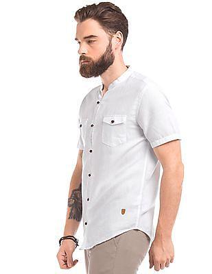 True Blue Short Sleeve Cotton Linen Shirt