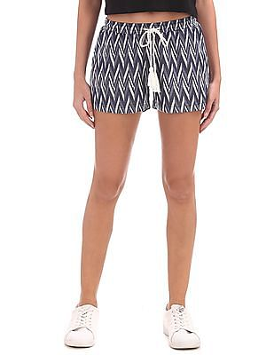 EdHardy Women Chevron Patterned Weave Shorts