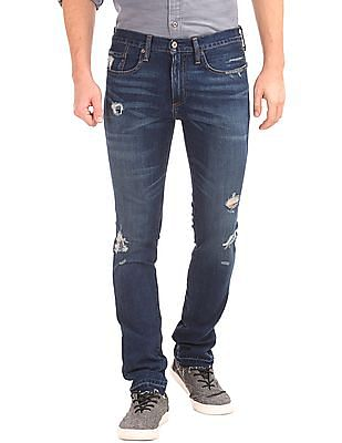 GAP Destructed Skinny Fit Jeans (Stretch)