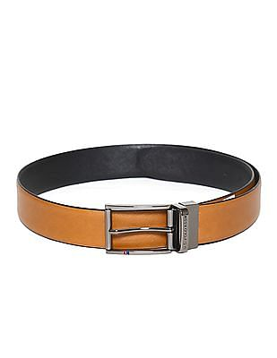 U.S. Polo Assn. Tan And Black Textured Reversible Belt
