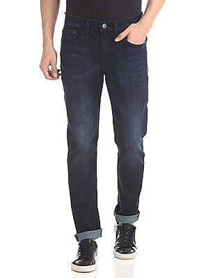 Arvind Slim Fit Dark Wash Jeans
