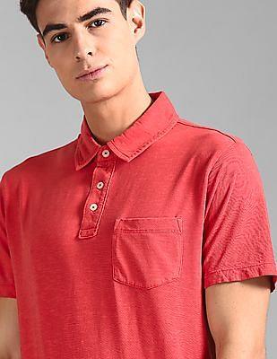 GAP Red Vintage Slub Jersey Polo Shirt