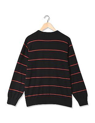 Izod V-Neck Stripe Sweater