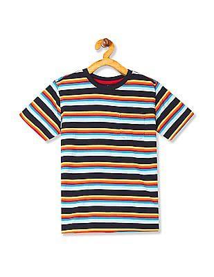 Cherokee Boys Crew Neck Stripe T-Shirt