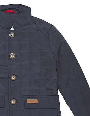 U.S. Polo Assn. Kids Boys Quilted Regular Fit Jacket