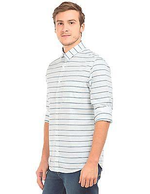 Izod Slim Fit Striped Shirt