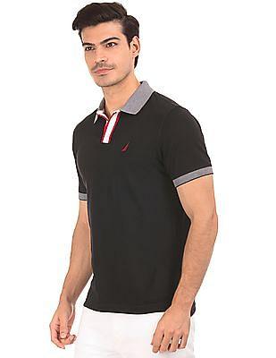 Nautica Open Collar Pique Polo Shirt