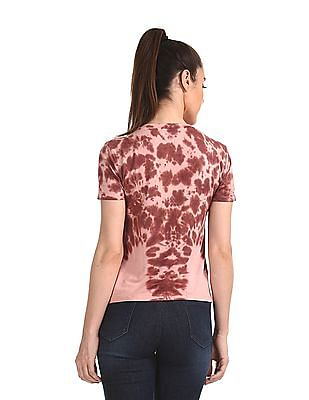 Aeropostale Ruched Side Dyed Top
