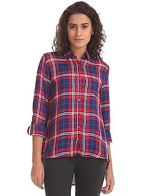 U.S. Polo Assn. Women Regular Fit Checked Shirt