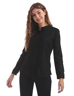 Cherokee Pintuck Front Solid Shirt