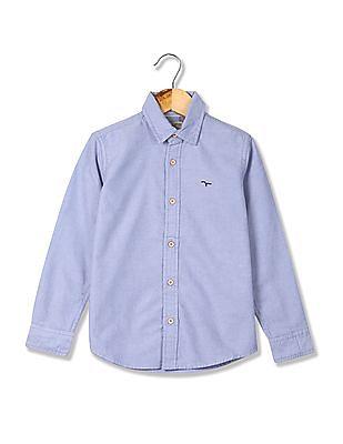 FM Boys Boys Slim Fit Solid Shirt