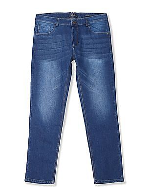 Newport Straight Fit Stone Wash Jeans