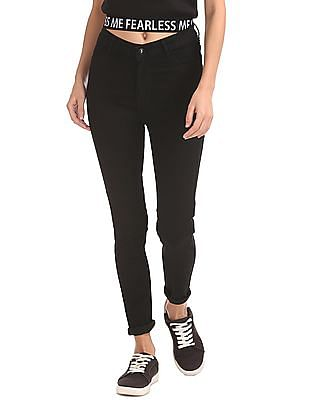 Flying Machine Women High Rise Rinsed Jeans