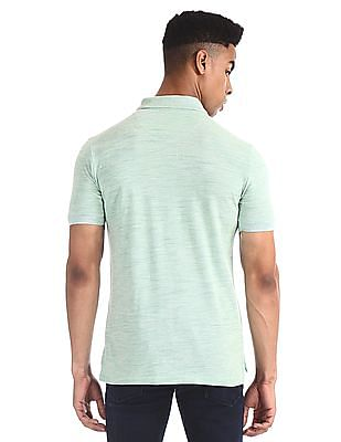 U.S. Polo Assn. Green Slim Fit Heathered Polo Shirt