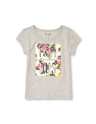 The Children's Place Girls Short Sleeve Graphic Top