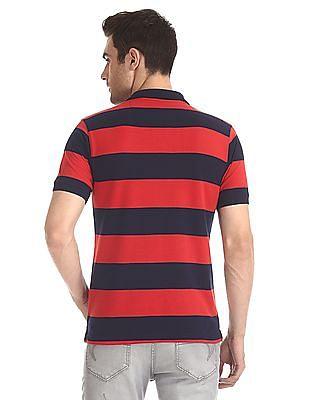 Ruggers Horizontal Stripe Pique Polo Shirt