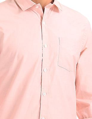 Excalibur Semi-cutaway Collar Solid Shirt