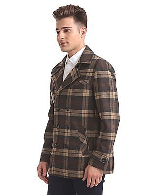 U.S. Polo Assn. Double Breasted Check Jacket
