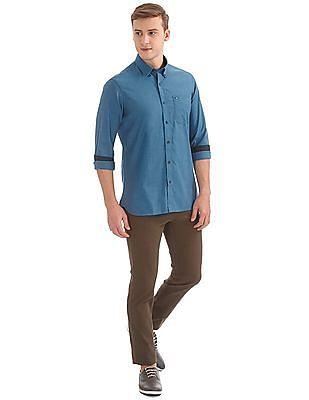 Arrow Sports Button Down Slim Fit Shirt