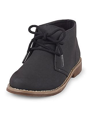 The Children's Place Boys Black Desert Kalahari Boots
