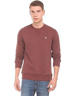 Aeropostale Solid Long Sleeved Sweatshirt