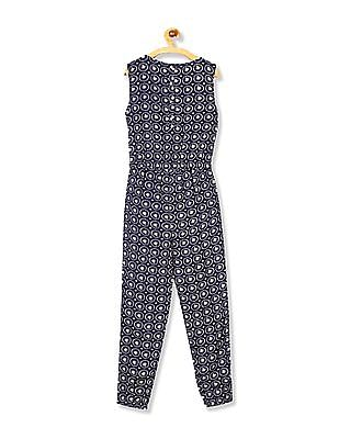 Cherokee Girls Sleeveless Embroidered Jumpsuit