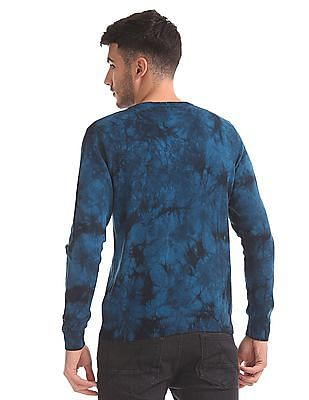 Flying Machine Slim Fit Dyed Sweater