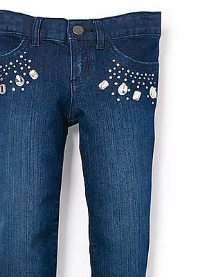 The Children's Place Girls Jewelled Skinny Jeans