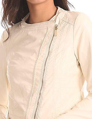 U.S. Polo Assn. Women Asymmetric Zipper Biker Jacket