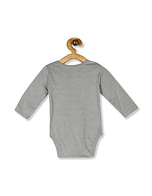 The Children's Place Baby Green Long Sleeve Graphic Bodysuit