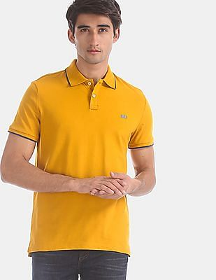 GAP Yellow Tipped Trim Pique Polo Shirt