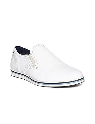 U.S. Polo Assn. Contrast Sole Leather Slip On Shoes