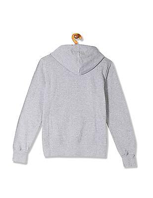 Flying Machine Women Printed Hooded Sweatshirt