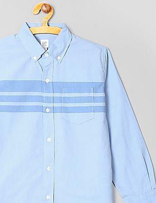 GAP Boys Poplin Stripe Long Sleeve Shirt